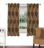 Skipper Brown Viscose & Polyester 44 x 60 Inch Eyelet Window Curtain (Model No: 089273)