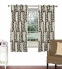 Skipper Brown Viscose & Polyester 44 x 60 Inch Eyelet Window Curtain (Model No: 090748)