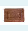 Skipper Chocolate Brown Polyester Box-in-box Bath Mat