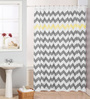 Skipper Grey and Yellow PVC 70 x 78 Shower Curtain