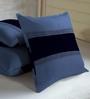Skipper Indigo Polyester & Cotton 16 x 16 Inch Geometric Patterns Cushion Covers - Set of 3