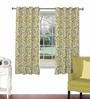 Skipper Lime Green Viscose & Polyester 44 x 60 Inch Eyelet Window Curtain (Model No: 090754)
