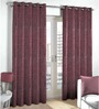 Skipper Maroon Polyester Window Curtain - Set of 2