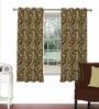 Skipper Maroon Viscose & Polyester 44 x 60 Inch Eyelet Window Curtain (Model No: 090703)