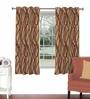 Skipper Maroon Viscose & Polyester 44 x 60 Inch Eyelet Window Curtain (Model No: 090709)