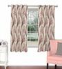 Skipper Maroon Viscose & Polyester 44 x 60 Inch Eyelet Window Curtain (Model No: 090722)