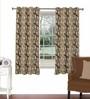 Skipper Multicolour Viscose & Polyester 44 x 60 Inch Eyelet Window Curtain (Model No: 090262)