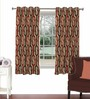Skipper Multicolour Viscose & Polyester 44 x 60 Inch Eyelet Window Curtain (Model No: 092755)