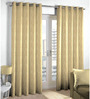 Skipper Off-white Viscose & Polyester Abstract Pattern Window Curtain - Set of 2