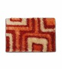Skipper Orange PVC 24 x 16 Inch Geometrical Door Mat
