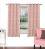 Skipper Pink Viscose & Polyester 44 x 60 Inch Eyelet Window Curtain (Model No: 089615)