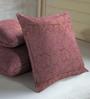 Skipper Purple Viscose & Cotton 16 x 16 Inch Cushion Covers - Set of 3