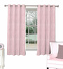 Skipper Pink Viscose Abstract Window Curtain