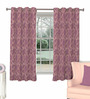 Skipper Purple Viscose Floral Window Curtain