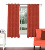Skipper Red Viscose & Polyester 44 x 60 Inch Eyelet Window Curtain (Model No: 088332)