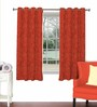 Skipper Red Viscose & Polyester 44 x 60 Inch Eyelet Window Curtain (Model No: 088342)