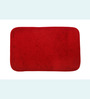 Skipper Red Polyester Bath Mat