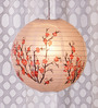 Skycandle Printed Red Flower Paper Lantern