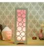 Skycandle White Wood Table Lamp
