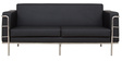 Sleek Three Seater Sofa with Artificial Leather Upholstery in Black Coolour by Star India