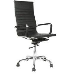 Sleek Design Executive High Back Chair in Black Colour by Star India