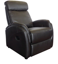 Sleek One Seater Leather Sofa Recliner in Brown Colour by Star India