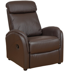 Sleek One Seater Recliner in Brown Colour by Star India