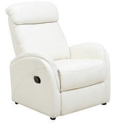 Sleek One Seater Recliner in White Colour by Star India