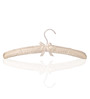 Sleek Ivory Satin Clothes Hanger - Set of 6