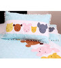 Sleeping Cute Pillow Coversin Multicolour by Kids Clan