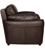 Small Stanley One Seater Sofa in Dark Brown Leatherette by Sofab