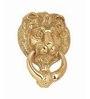 SmartShophar Brass Door Knocker 5 Inches Lion Gold