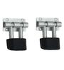 SmartShophar Door Stopper 2 Pc Rolex Almunium 3 Inches Nickel Silver