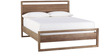 Solid Pine Wood Queen Bed with Natural Finish by Asian Arts