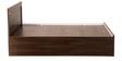 Solitaire Queen Bed with Box Storage in Acacia Dark Matt Finish by Debono