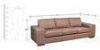 Soroca Three Seater Sofa by Forzza