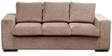 Sorocca Three Seater Sofa in Light Brown Colour by Forzza