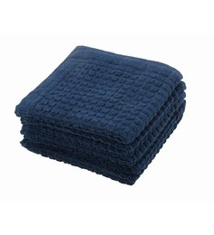 Softweave Blue 100% Cotton 12 X12 Face Towel - Set Of 5