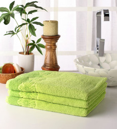 Softweave Green Cotton 39 X 20 Hand Towel - Set Of 3 - 1503047