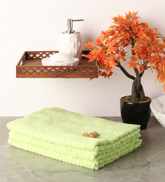 Softweave Green Cotton 39 X 20 Hand Towel - Set Of 3 - 1503052