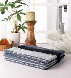 Softweave Grey Cotton 39 X 20 Hand Towel - Set Of 3 - 1503012