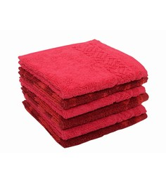 Softweave Multicolour 100% Cotton 12 X12 Face Towel - Set Of 6 - 1590729