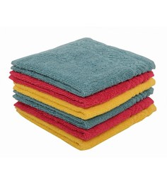 Softweave Multicolour 100% Cotton 12 X12 Face Towel - Set Of 6 - 1590714