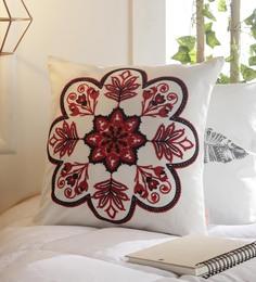 Solaj Multicolour Cotton 16 X 16 Inch Indian Ethnic Cushion Cover