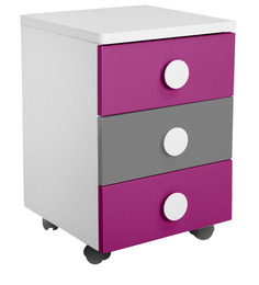 Solo Movable Drawer Set in Majenta Colour by Alex Daisy