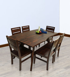 Sorano Six Seater Dining Set In Dark Walnut Finish By The ArmChair