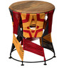 Soddy Stool in Multicolour by Inliving