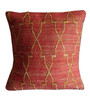 Sofiabrands Dark Orange Bamboo & Cotton 18 x 18 Inch Cushion Cover - Set of 3