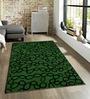 Sofiabrands Green Viscose Abstract Carpet
