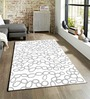 Sofiabrands White Viscose Abstract Carpet